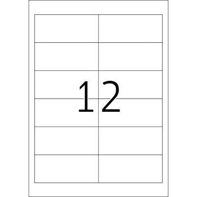 Herma etiket: Labels Premium A4 97x42.3 mm white paper matt 1200 pcs. - Wit