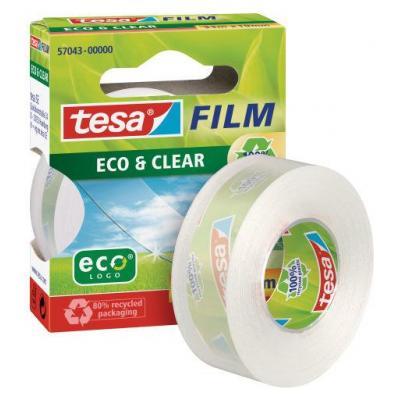 Tesa plakband: eco&clear 19mm33m - Transparant