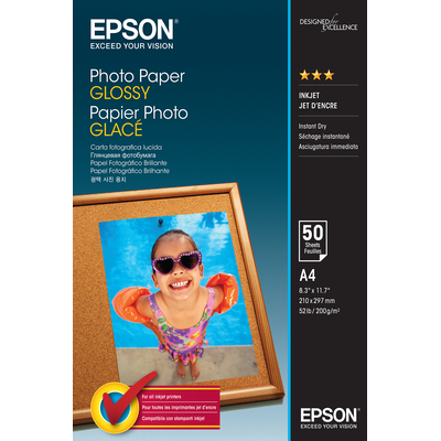Epson Photo Paper Glossy - A4 - 50 Vellen Fotopapier