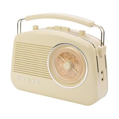 König radio: AM/FM, Bluetooth, 6 x C (UM-2) - Beige