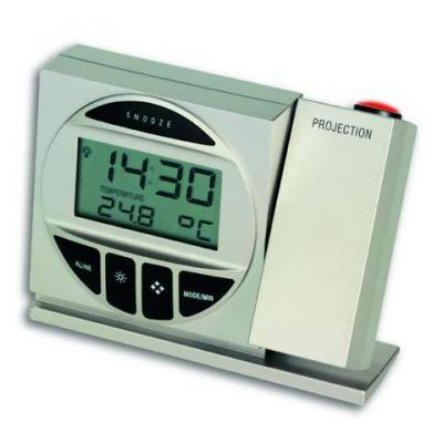 Tfa wekker: 98.1009 - radio controlled projection clock - Zilver