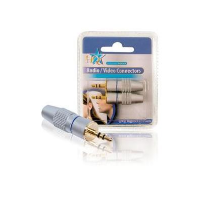 HQ 2x 3.5mm Kabel connector - Zilver
