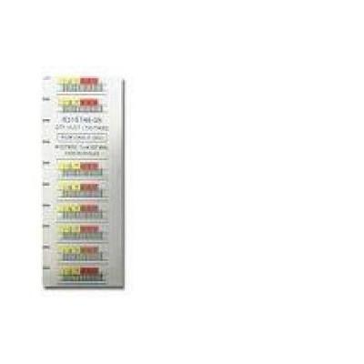 Quantum barcode label: Data cartridge bar code labels, LTO Ultrium 2, series 000201-000400 - Wit