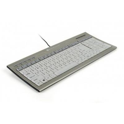 Bakkerelkhuizen C-board 830 toetsenbord - Zilver, AZERTY