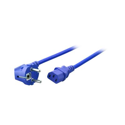 EFB Elektronik Power Cable 90° - C13 180°, blue Electriciteitssnoer - Blauw