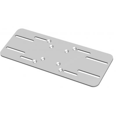 SmartMetals Plafondplaat voor damwandprofiel Muur & plafond bevestigings accessoire - Grijs, Zilver