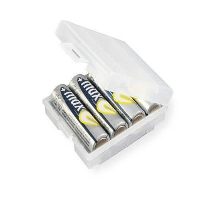 Ansmann apparatuurtas: Batterybox 4 - Transparant, Wit