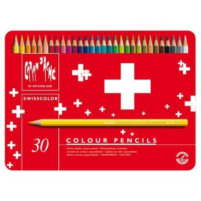 Caran d-ache potlood: Swisscolor Aquarel 30's - Veelkleurig, Rood