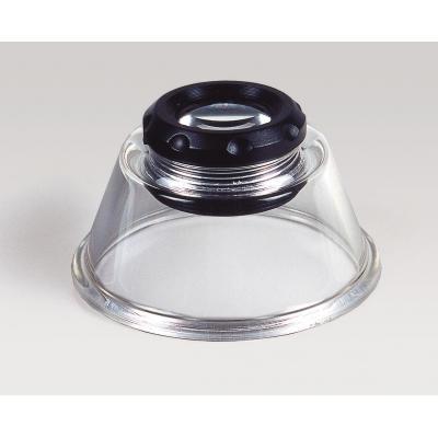 Kaiser fototechnik loep: Base Magnifier, 10x, 20 mm lens - Zwart, Transparant
