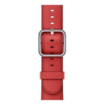 Apple : Rood bandje, klassieke gesp (42 mm)