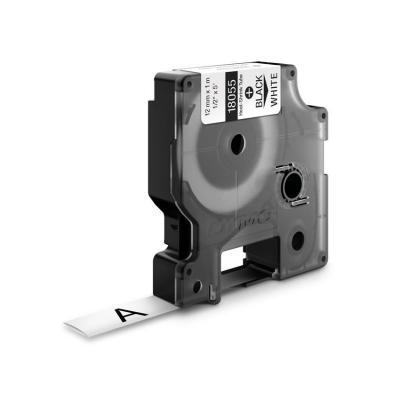 Dymo labelprinter tape: 12mm RhinoPRO Heat shrink tubes - Zwart op wit