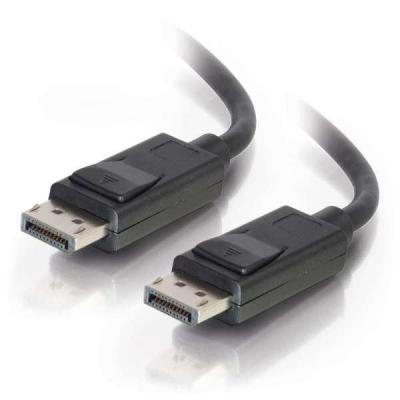 C2G 1m DisplayPort Cable with Latches 8K UHD M/M - 4K - Black - Zwart