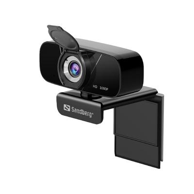Sandberg USB Chat 1080P HD Webcam - Zwart