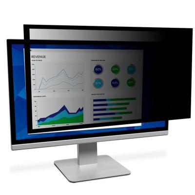 3m schermfilter: PF317 Omkaderde privacyfilter voor lcd-/crt-scherm voor desktop - Zwart, Doorschijnend