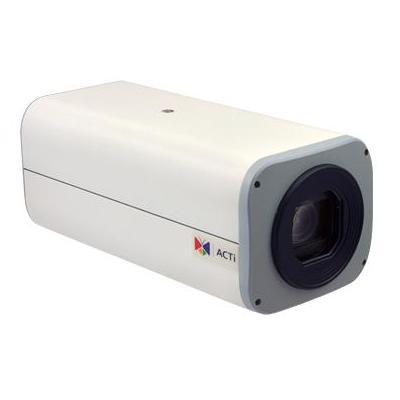 """ACTi CMOS, 1/2.8"""", 1920x1080px, PoE, 10.2W, 81x176x71mm,732g, White Beveiligingscamera - Zwart, Wit"""