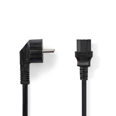 Nedis Voedingskabel 3x 1,5 mm², Schuko Male Haaks - IEC-320-C13, 3,0 m, Zwart Electriciteitssnoer