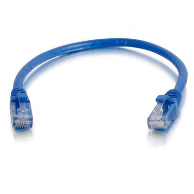 C2G 1 m Cat5e Booted Unshielded (UTP) netwerkpatchkabel - blauw Netwerkkabel