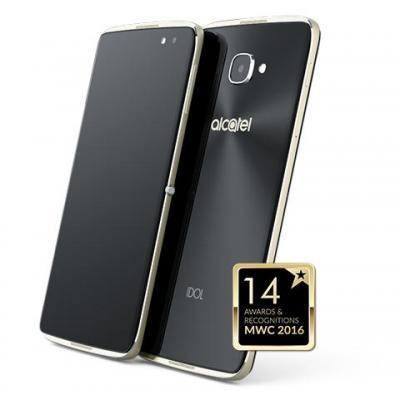 Alcatel smartphone: IDOL 4 - Zwart, Goud