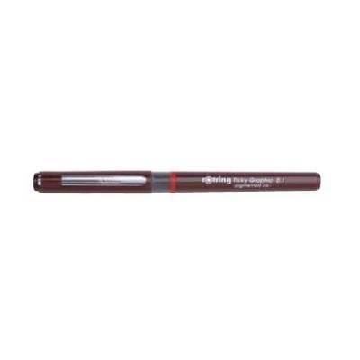 Rotring gelpen: black ink, 0.2 mm - Bordeaux rood