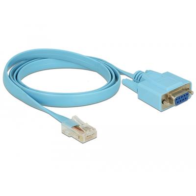 DeLOCK 1 x Serial RS-232 DB9/1 x RJ45, 921.6 Kbps Seriele kabel - Blauw