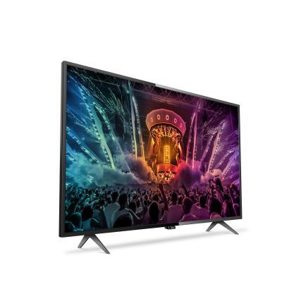 Philips led-tv: 6000 series Ultraslanke 4K Smart LED-TV 55PUS6101/12 - Zwart
