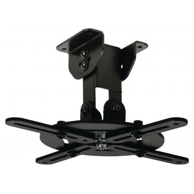 Valueline projector plafond&muur steun: Projector ceiling mount, 10 kg, Black - Zwart