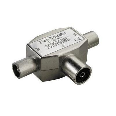 Schwaiger kabel splitter of combiner: ASV42 531 - Zilver