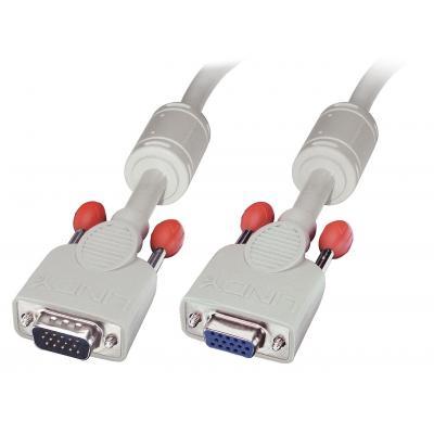 Lindy 2.0m VGA M/F VGA kabel  - Grijs