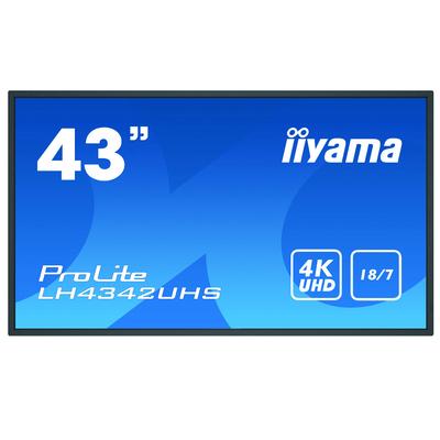 "Iiyama 42.5"", 3840x2160, IPS, 16:9, VGA, DVI, HDMI, DP, RJ-45, RS-232C, USB, Android OS 8.0, 973x561.2x63.5 mm ....."