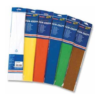 Folia crepe papier: CREPE PAP 10ST 50CMX2,5M ASS