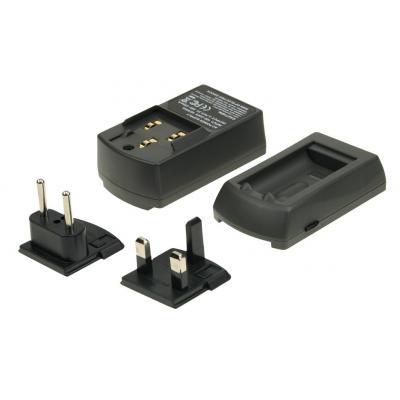 2-power oplader: AC Charger for Digital Cameras Battery, Black - Zwart