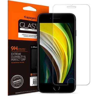 Spigen iPhone SE 2020 / 8 / 7 GLAS.tR Slim Screen protector - Transparant