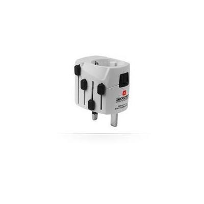 Microconnect stekker-adapter: SKYROSS Travel Adapter - Wit