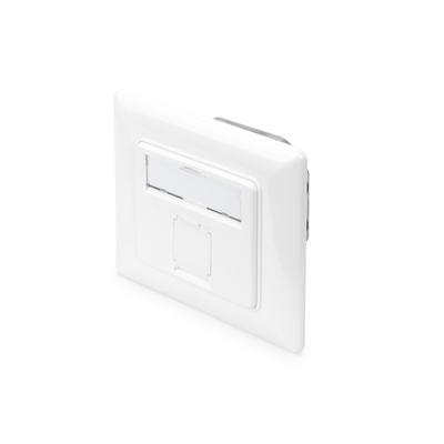 Digitus CAT 6A Class EA network outlet, shielded 1x RJ45, LSA, pure white, flush mount, horizontal .....