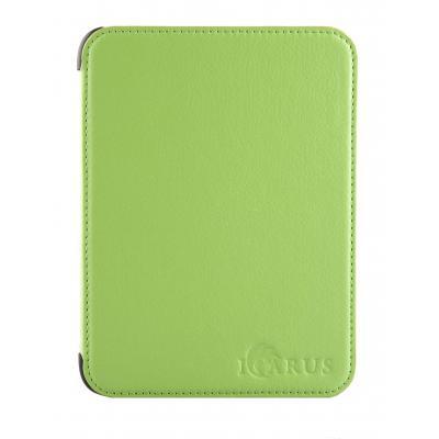 Icarus e-book reader case: Groene PerfectFit beschermhoes voor Illumina E654BK e-reader - Groen, Limoen