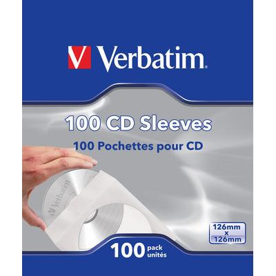 Verbatim : CD-hoesjes (papier), 100 stuks
