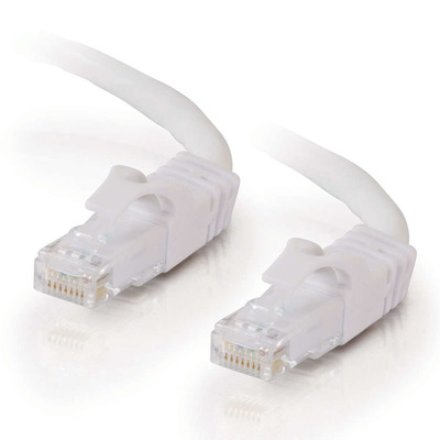 C2g netwerkkabel: Cat6 Snagless Patch Cable White 20m - Wit