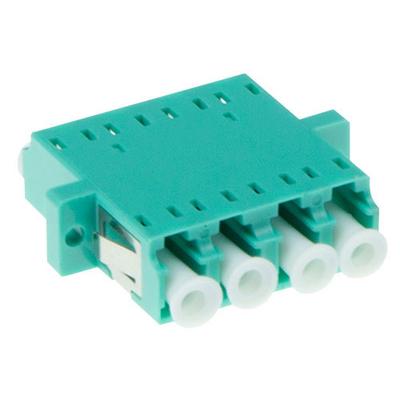 ACT Fiber optic LC-LC quad adapter OM3/OM4 - Cyaan