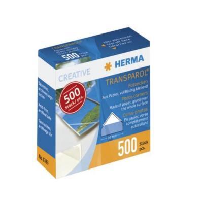 Herma : Transparol fotohoekjes dispenser 500 st. - Transparant