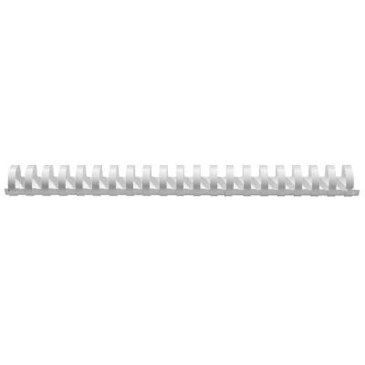 5star inbinder: Comb Binding Spines 16 mm Diameter Plastic, Pack of 100, White - Wit