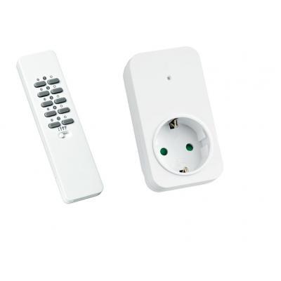Klikaanklikuit wandcontactdoos: Afstandsbediening + Stekkerdoos Schakelaar, AC 220V, 50Hz, 3V (CR2032) - Wit