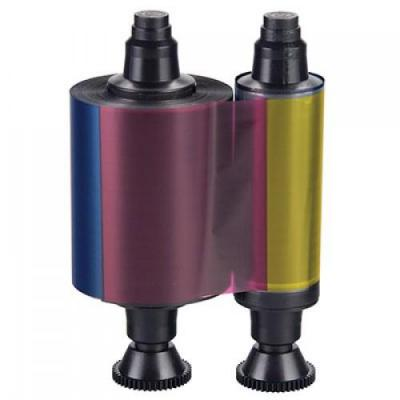 Evolis Ribbon (YMCKO-K) Printerlint - Zwart, Cyaan, Magenta, Transparant, Geel