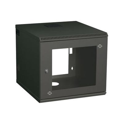 "Black Box Wallmount Cabinet - 6U, 22.05""W x 23.62""D, M6 Square Holes Rack - Zwart"