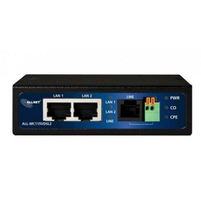 ALLNET 100 Mbit Mini, IEEE 802.3/802.3u, 2 x RJ-45, RJ-11, 95 x 110 x 27 mm, 465 g Modem