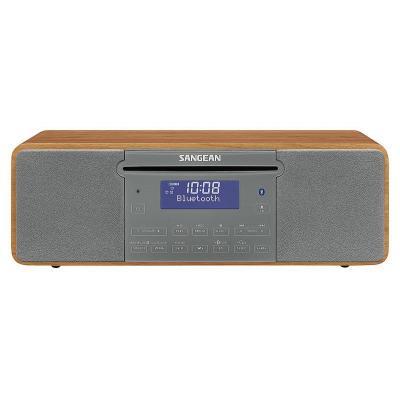 Sangean CD-radio: DAB+, FM, CD, USB, SD, Aux-in, Bluetooth - Grijs, Walnoot