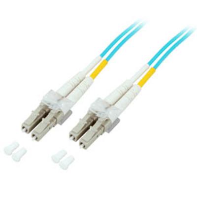EFB Elektronik Duplex Jumper LC/LC 50/125µ, 0,5 m, OM3, LSZH, aqua Fiber optic kabel - Blauw