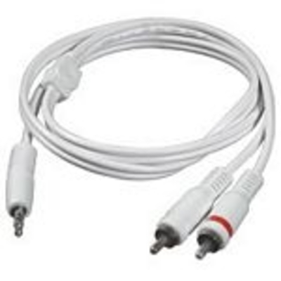 C2G 1m 3.5mm Male to 2 RCA-Type Male Audio Y-Cable - iPod - Wit