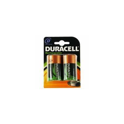 Duracell Rechargeable D Size 2 Pack batterij - Zwart, Goud
