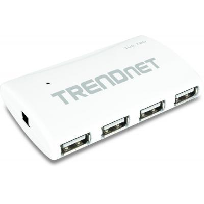 Trendnet TU2-700 7-Port High Speed USB w/ Power Adapter, Transfer data at speeds up to 480Mbps. Hub