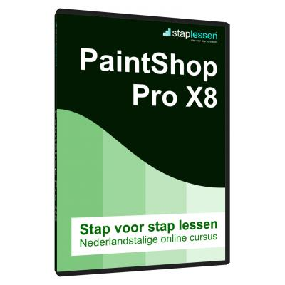 Shareart educatieve software: Staplessen, PaintShop Pro X8 (18)  NL